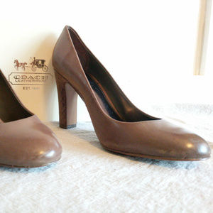 Coach Brown Leather Heel, Size 9.5